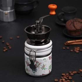 """Coffee grinder with handle """"Bouquet"""""""