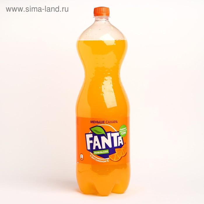 Вода газированная Fanta, апельсин, 2 л