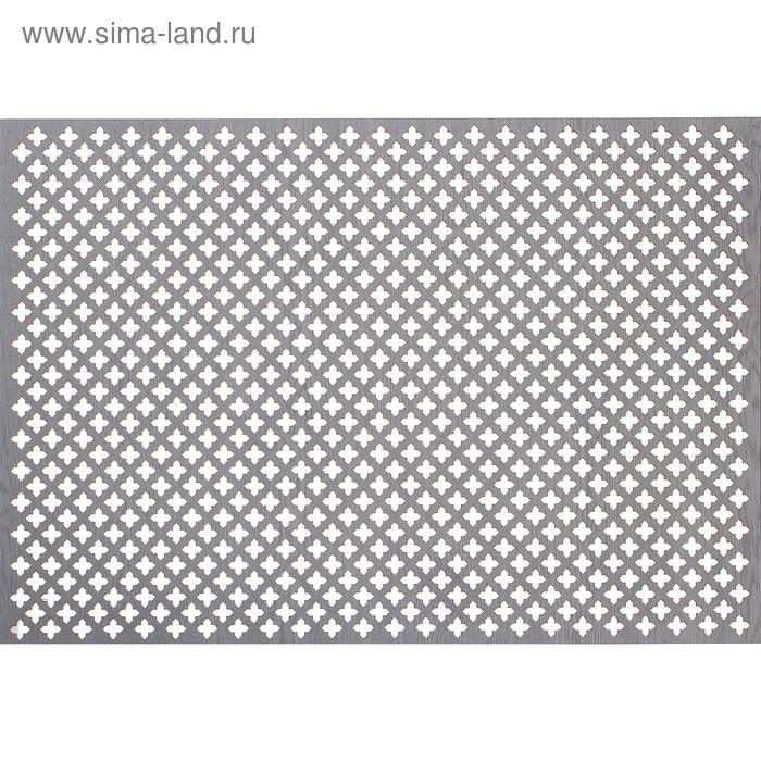 Панель перфорированная ХДФ  Лотос Пепельный 680х1000х3 мм