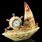 Часы «Корабль», 18х16 см, оникс