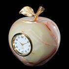 """Часы """"Яблоко"""" 6 х 10 см, оникс"""