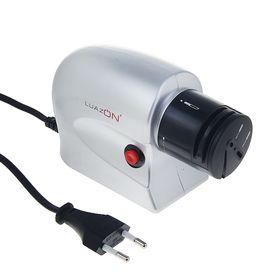 Ножеточка LuazON LTE-01, электрическая, для ножей/ножниц/отвёрток, 220 В, серая