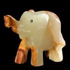"""Сувенир """"Слон"""", 6,5х5,5 см, оникс"""
