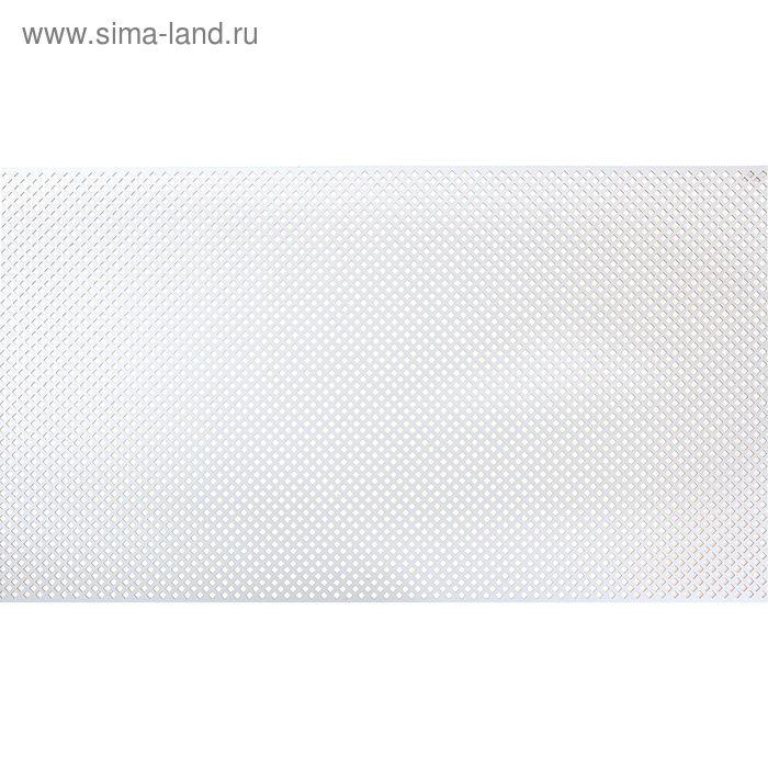 Панель перфорированная ХДФ  Глория Белый 780х1400х3 мм