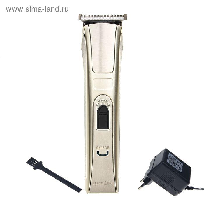 Машинка для стрижки волос LuazON LST-04, АКБ 600 мАч, насадки 3, 6, 9, 12 мм, LED-индик.