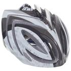 Шлем велосипедиста взрослый ОТ-T23, черно-белый, диаметр 54 см