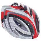 Шлем велосипедиста взрослый ОТ-T23, бело-красно-черный, диаметр 54 см