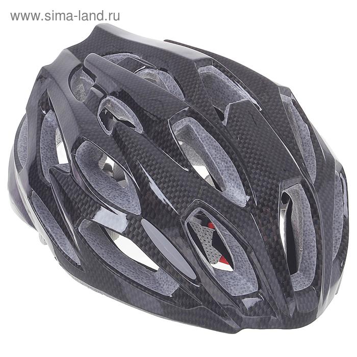 Шлем велосипедиста взрослый ОТ-T28, черный, диаметр 54 см