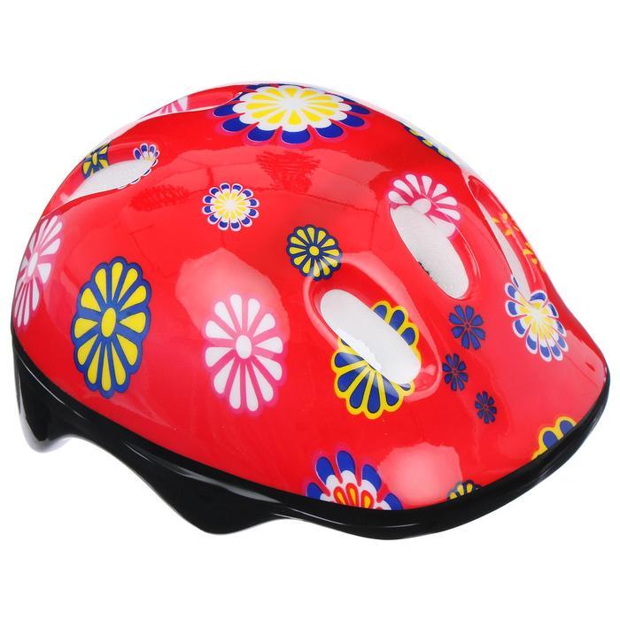 Шлем защитный OT-SH6 детский, р S (52-54 см), цвет: красный