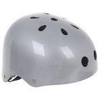 Шлем велосипедиста взрослый ОТ-GK1, глянцевый, серебро d=56 см