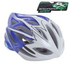 Шлем велосипедиста взрослый ОТ-325, сине-белый, диаметр 54 см