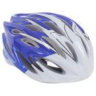 Шлем велосипедиста взрослый ОТ-328, бело-синий, диаметр 54 см