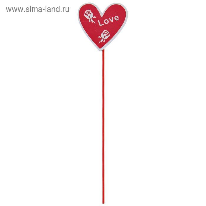 """Декоративный штекер для комнатных растений """"Love"""""""
