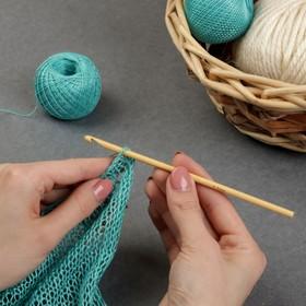 Крючок для вязания бамбуковый, d=4,5мм, 15см Ош
