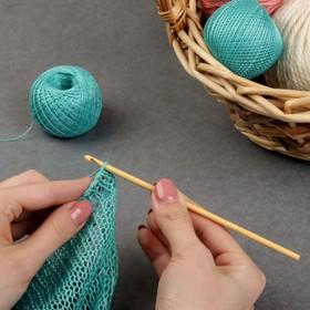 Крючок для вязания бамбуковый, d=4мм, 15см Ош