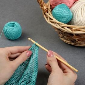 Крючок для вязания бамбуковый, d=5мм, 15см Ош