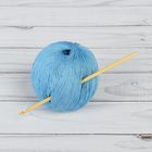 Крючок для вязания бамбуковый, d=3,5мм, 15см