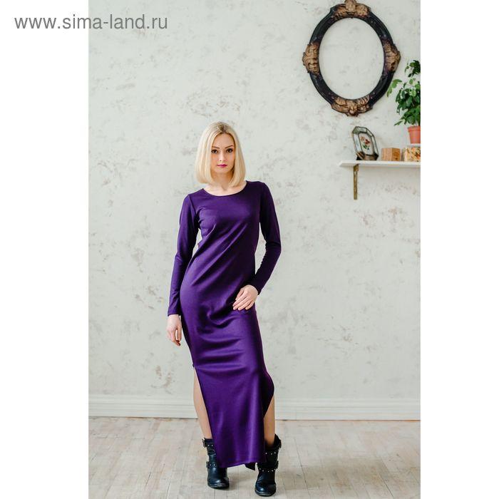 Платье женское, размер 50, рост 168 см, цвет баклажан (арт. 1535 С+)