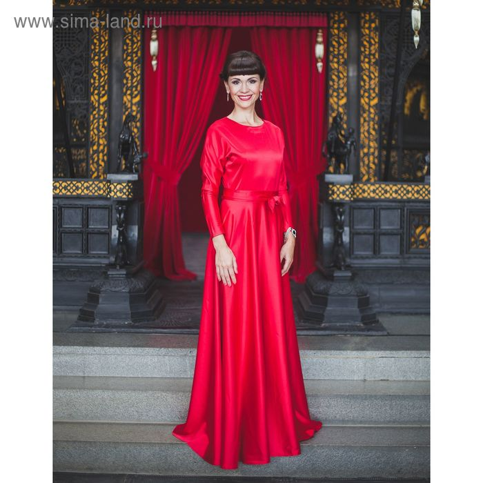 Платье женское, размер 44, рост 168 см, цвет красный (арт. 1580)