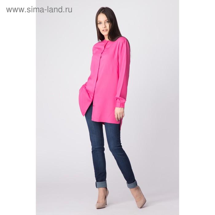 Блуза женская, размер 50, рост 168 см, цвет фуксия (арт. 1552 С+)