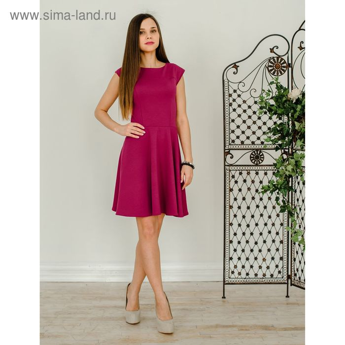 Платье женское 1523, размер 42, рост 168 см, цвет розовый