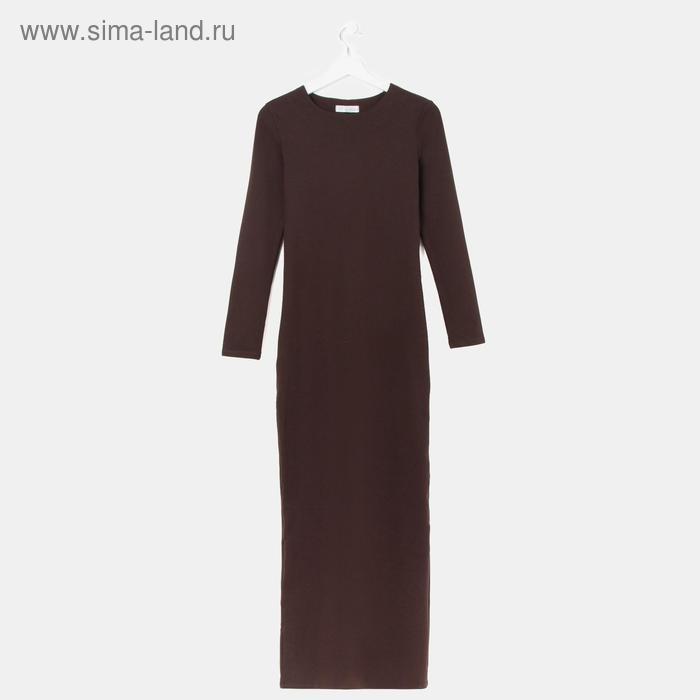 Платье женское, размер 42, рост 168 см, цвет шоколад (арт. 1556)