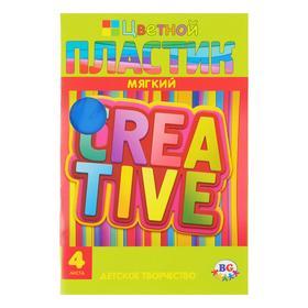Набор мягкого пластика EVA А4, 4 листа, 4 цвета Creative Ош