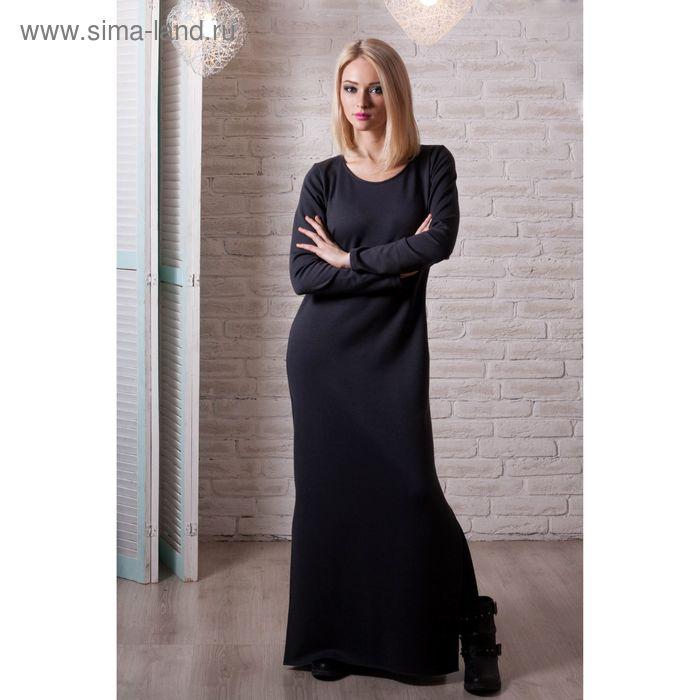 Платье женское, размер 48, рост 168 см, цвет чёрный (арт. 1535)