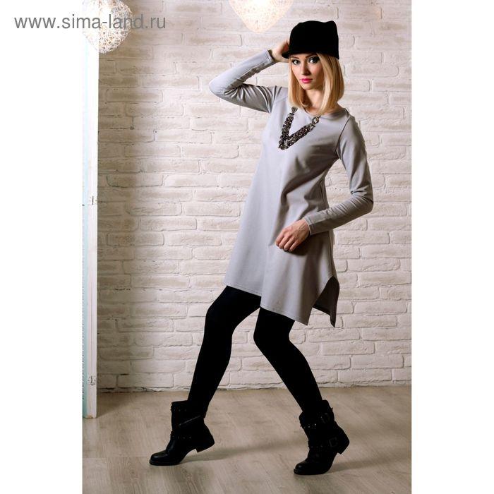 Блузка женская, размер 50, рост 168 см, цвет светло-серый (арт. 15-96961 С+)