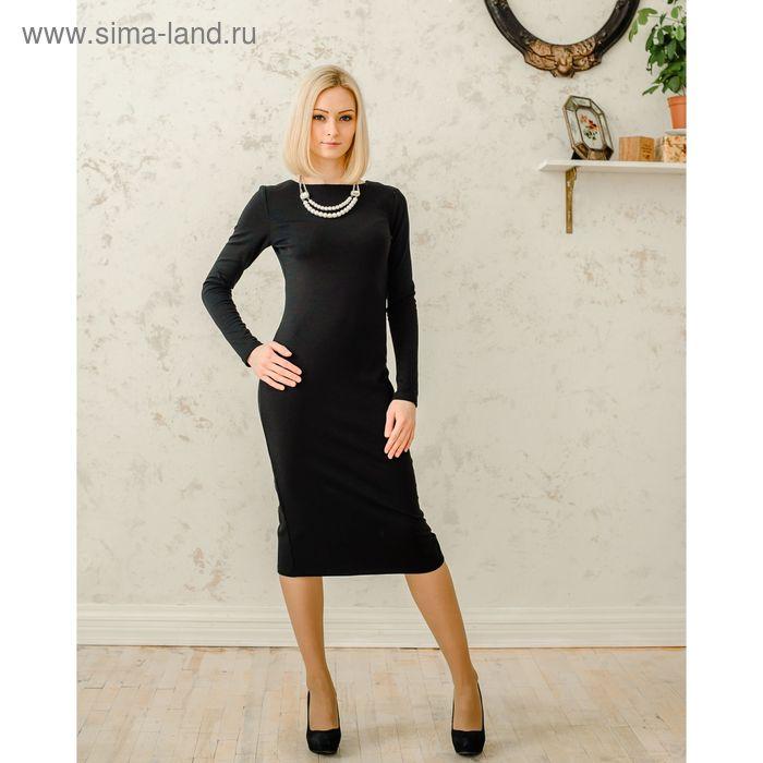 Платье женское, размер 48, рост 168 см, цвет чёрный (арт. 1522)