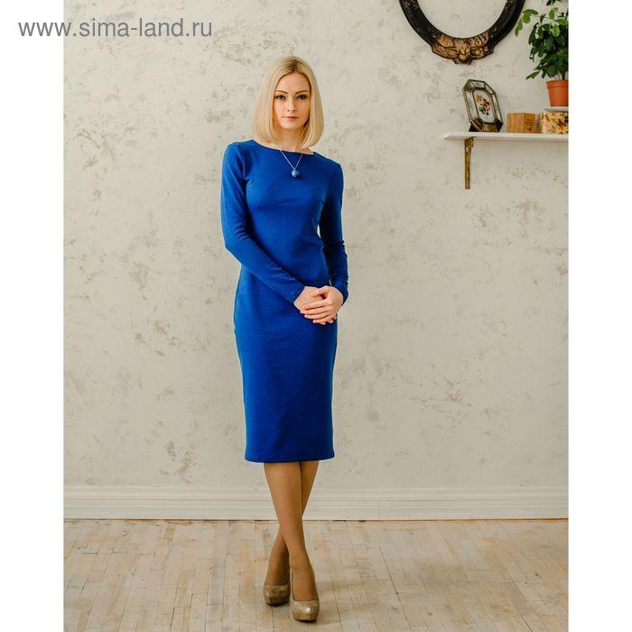 Платье женское, размер 42, рост 168 см, цвет синий (арт. 1522)