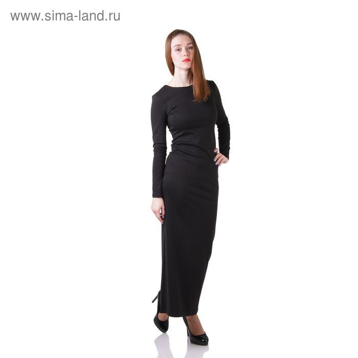 Платье женское, размер 42, рост 168 см, цвет чёрный (арт. 1556)