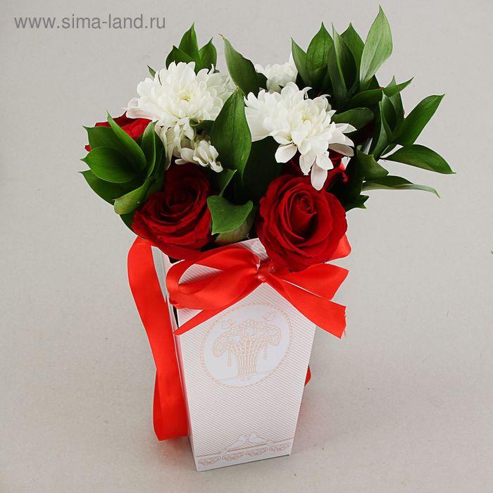 """Пакет для цветов """"Голуби"""", 24х12х10 см"""