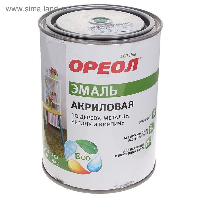 Эмаль Ореол акриловая зеленая глянц 0,9 кг
