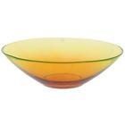 """Салатник 1,2 л, стеклянный d=25 см """"Голландия"""", цвет желто-оранжевый , прозрачный"""
