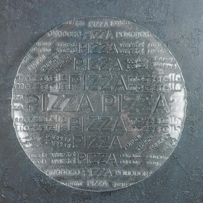 "Тарелка 35 см ""Пицца"", прозрачная"