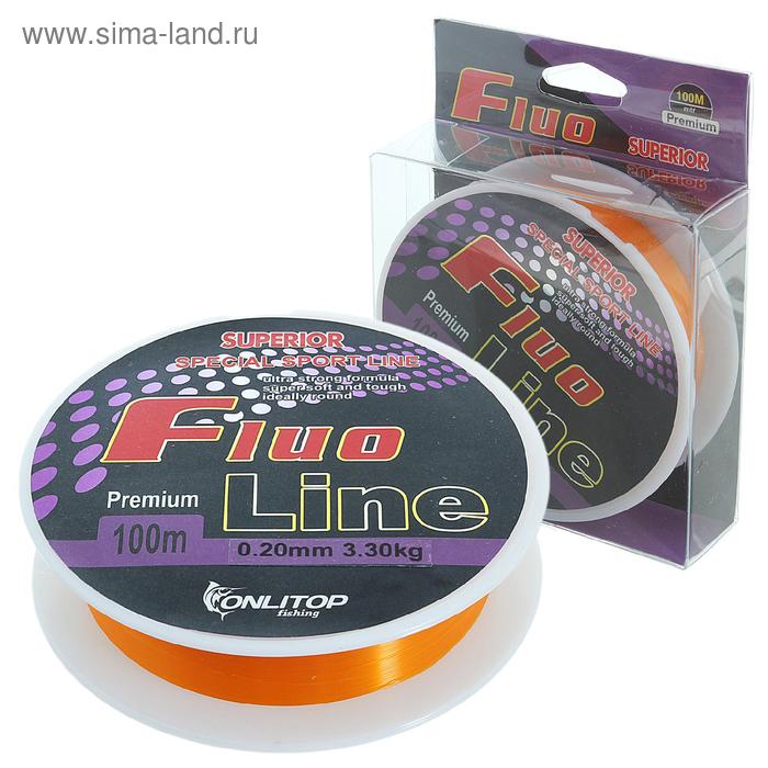 Леска капрон Fluo Line оранжевый d=0,20 мм, 100 м