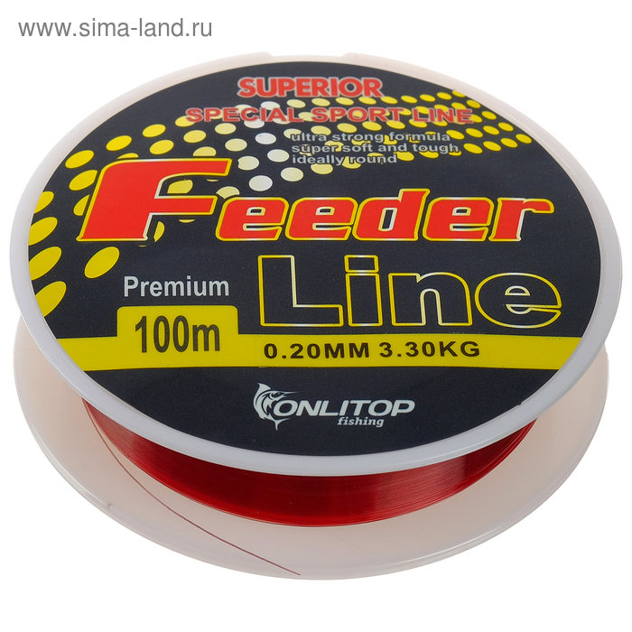 Леска капрон Feeder Line коричневая d=0,20