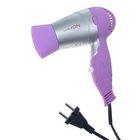 Фен для волос LuazON LF-07, 1000 Вт, 2 скорости, складная ручка, фиолетовый