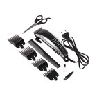 Машинка для стрижки волос LuazON LST-12, 15 Вт, 4 насадки, серебристо-чёрная