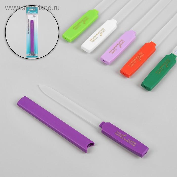 Пилка стеклянная для ногтей, двусторонняя, 16см, цвет белый