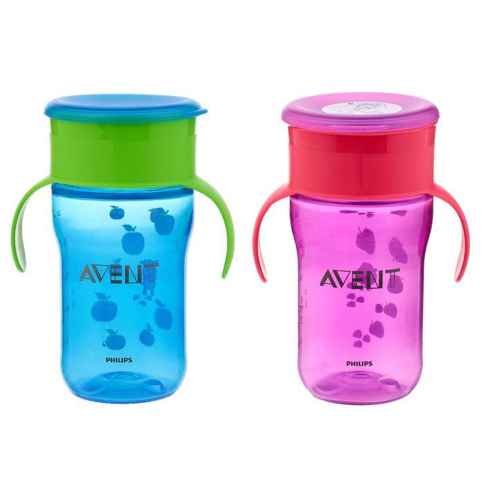 Чашка-непроливайка без носика «Взрослая», 340 мл, от 18 мес., цвета МИКС