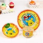 """Набор 3 предмета """"Время подкрепиться"""" Медвежонок Винни и его друзья, кружка, тарелка, пиала"""