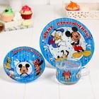 """Набор 3 предмета """"Отличного дня"""", Микки Маус и его друзья, кружка, тарелка, пиала"""