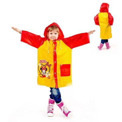 """Дождевик со светоотражающим элементом """"Милая модница"""" Минни Маус, р-р S, рост 92-98 см"""
