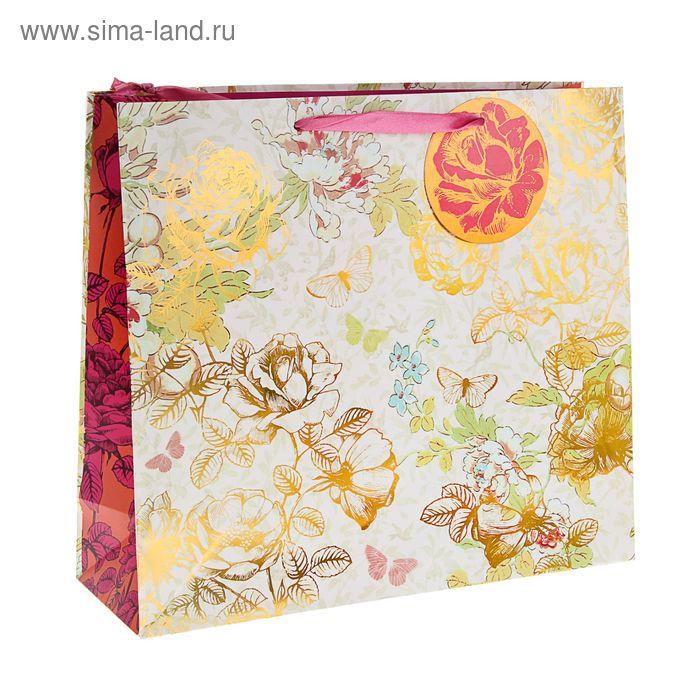 """Пакет подарочный """"Донна Роза"""" люкс,  36 х 32 х 12 см"""
