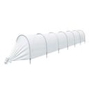 Парник «Ленивый», длина 6,5 м , 7 дуг из пластика, укрывной материал 42 г/м²