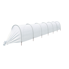 Парник прошитый «Ленивый», длина 6.5 м , 7 дуг из пластика, дуга L = 2 м, d = 20 мм, укрывной материал 35 г/м²