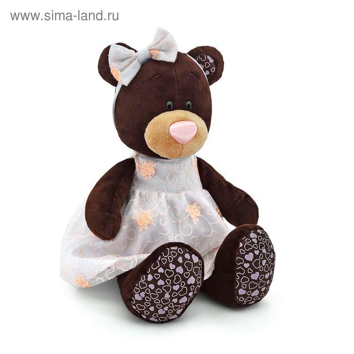 Мягкая игрушка «Milk сидячая в платье с вышивкой»