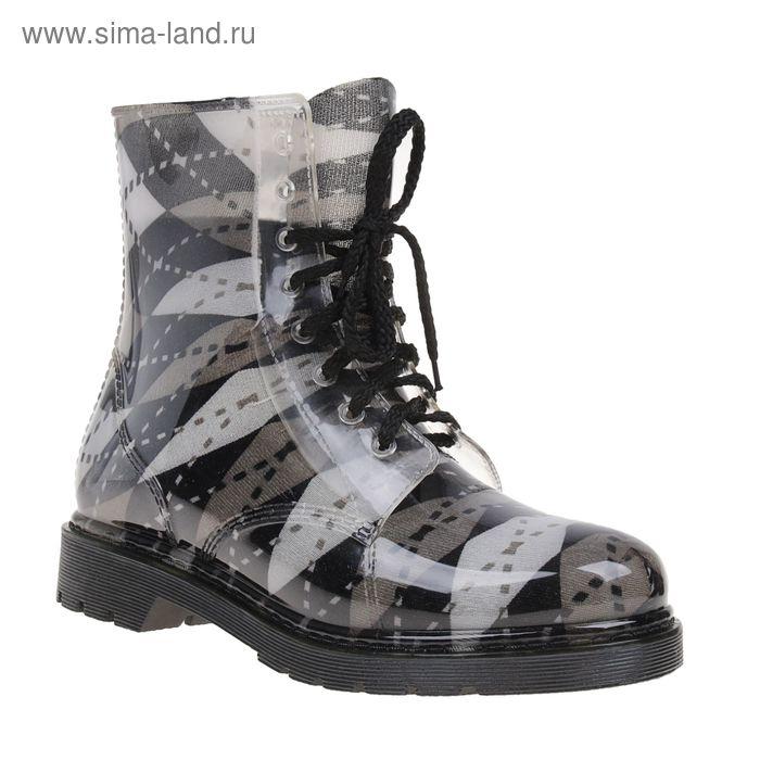 Сапоги (ботинки) женские с утеп арт.12 на шнуровке-1 (МИКС) (р. 39)